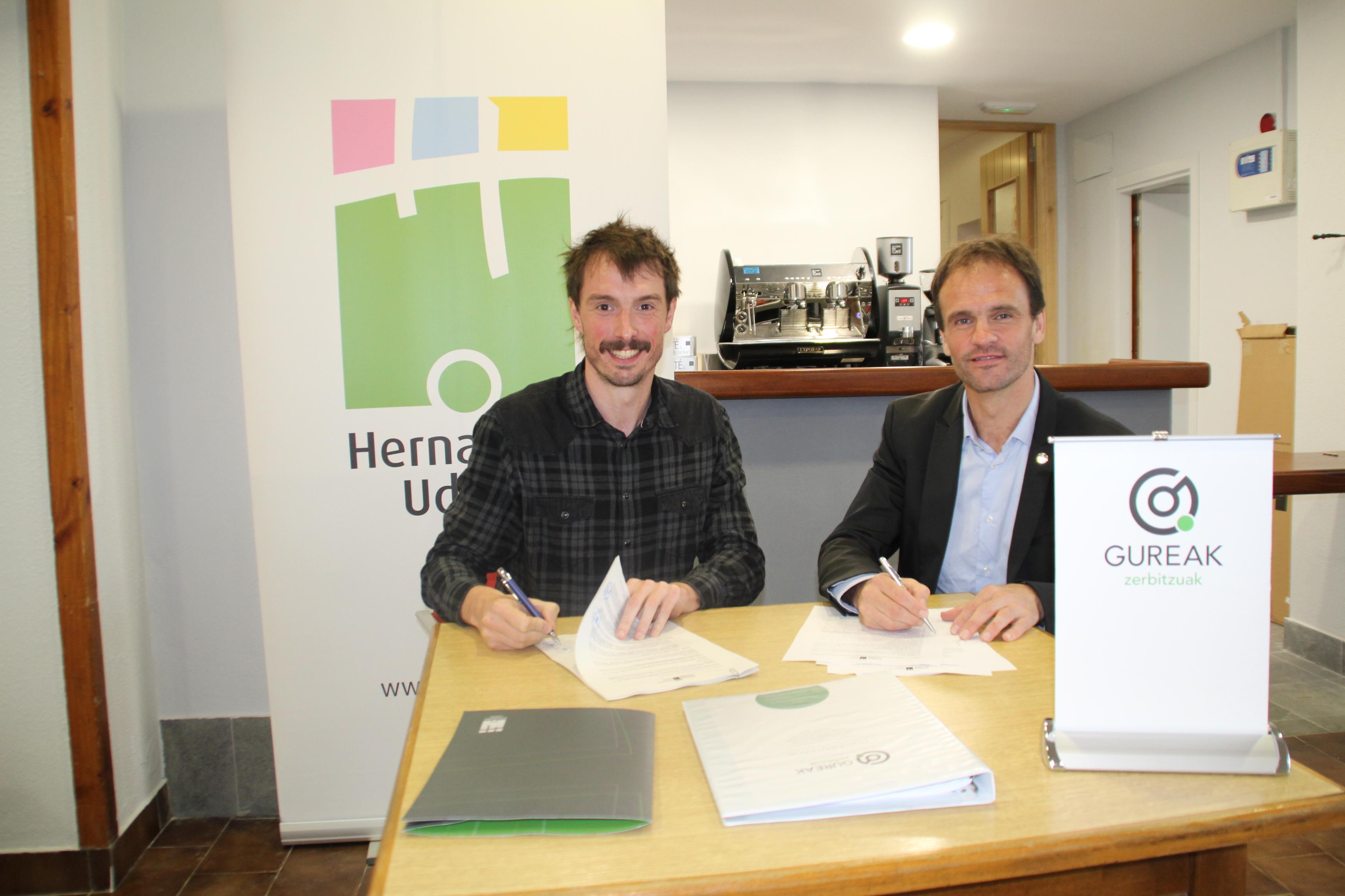 Acuerdo entre el Ayuntamiento de Hernani y GUREAK para la gestión del bar-restaurante del centro…